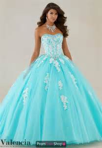 vizcaya quinceanera aqua ball gown 89086