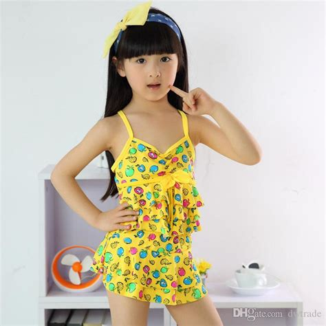 fruits little girl swimsuit best quality baby girl swimwear child two piece fruit