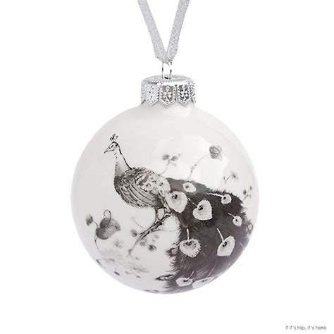 modern porcelain christmas ornaments for a truly white