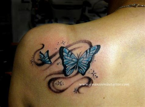blue butterfly tattoo design gwan soon lee tattoos
