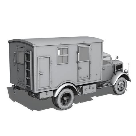 opel blitz truck opel blitz 3t truck with kofferaufbau 3d model buy