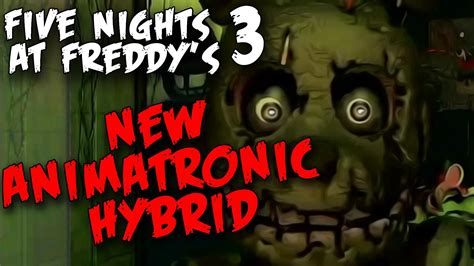 A Place Trailer Explained Fnaf 3 Trailer Explained With Screenshots Five Nights At Freddy S 3 New Animatronic Hybrid