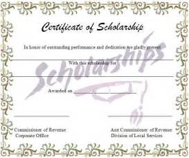 scholarship certificate template word march 2013