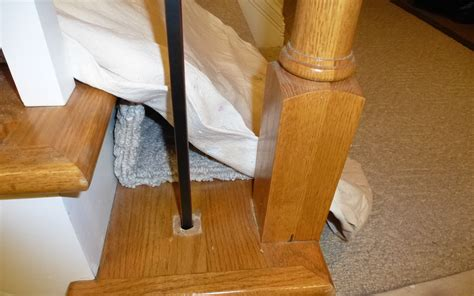 how to remove stair banister spindle replacement w iron discussion on the kingwood com