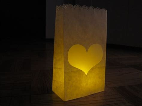 How To Make Luminaries With Paper Bags - personal paper bag luminaries weddingbee photo gallery