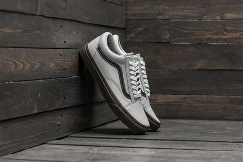 Vans Skool Black Grey vans skool bleacher gray black gum footshop