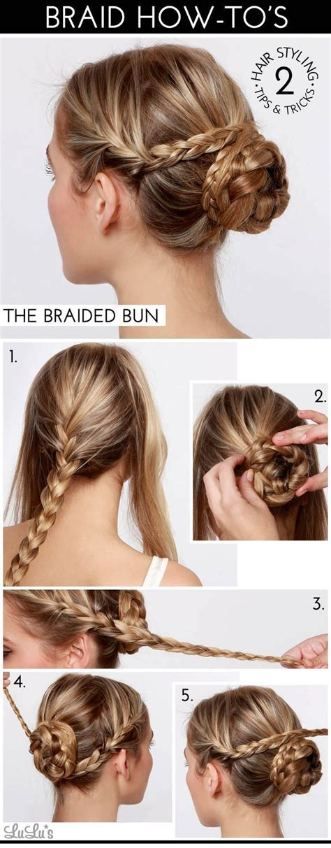 hairstyles buns tutorials 20 cute and easy braided hairstyle tutorials