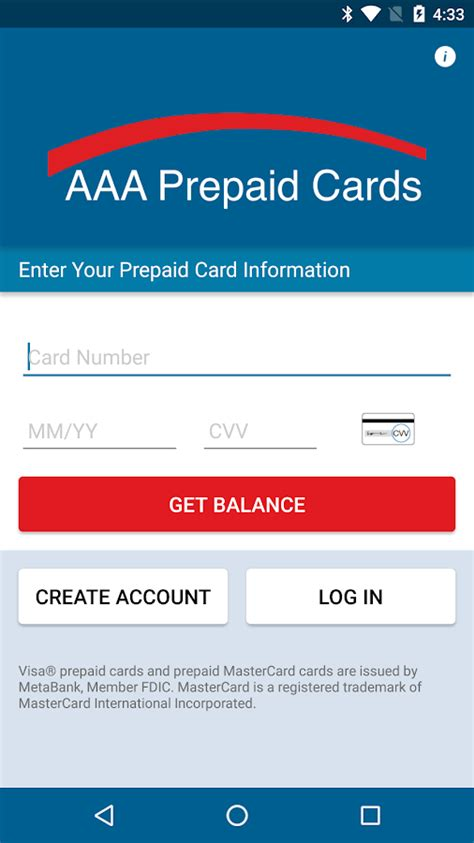 Metabank Gift Card Balance Check - aaa prepaid android apps on google play