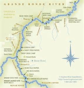 oregon river map grande ronde river map