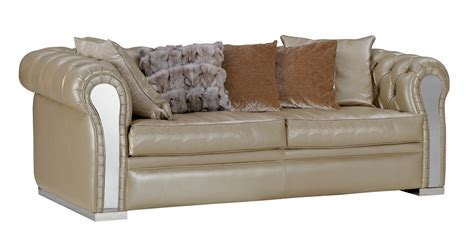 modern beige leather sofa