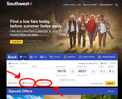 southwest low fare calendar how to find cheap flights on southwest from your city escape on a
