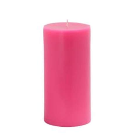 Pink Candles Zest Candle 3 In X 6 In Pink Pillar Candles Bulk 12