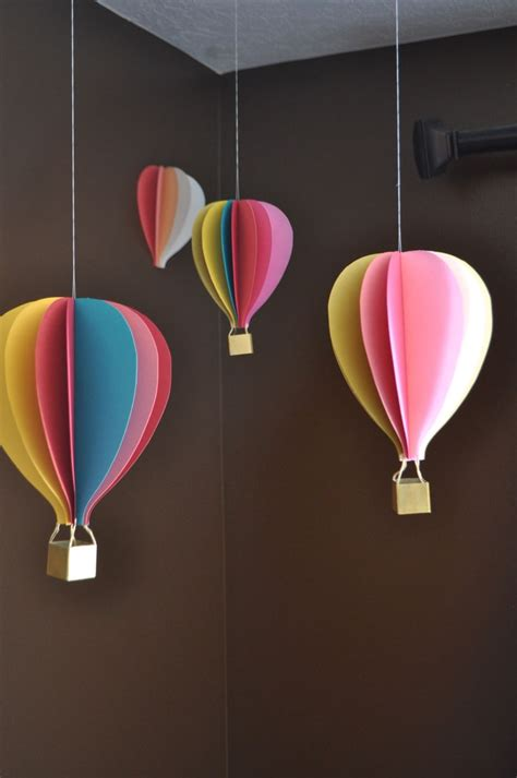Handmade Air Balloon Decorations - air balloon inspired decorations that will take you