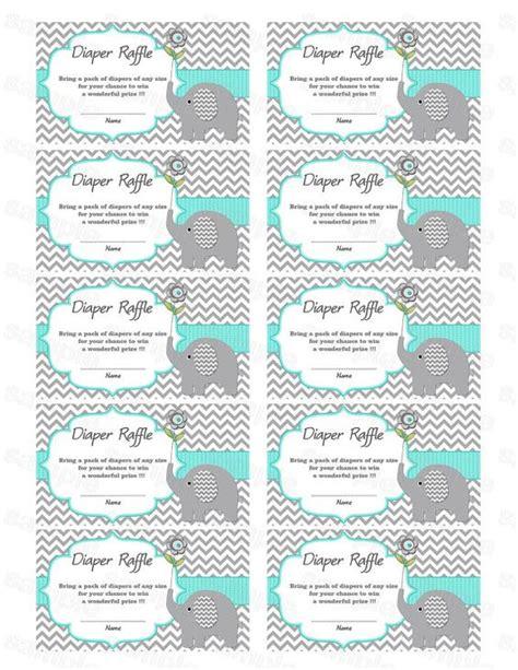 printable diaper raffle tickets elephant elephant baby shower diaper raffle ticket diaper raffle
