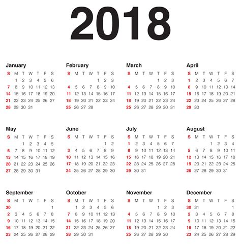 2018 Calendar Transparent Png Clip Art Image Gallery Yopriceville High Quality Images And Transparent Calendar Template
