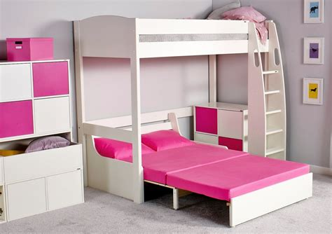 high sleeper with double futon stompa unos high sleeper frame with double sofa bed only