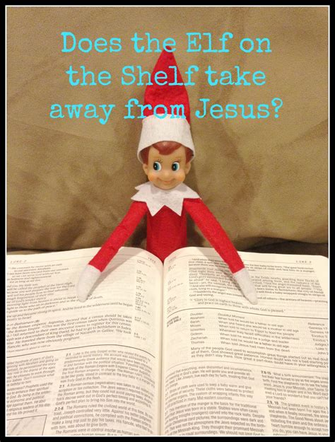 Jesus On The Shelf does the on the shelf take away from jesus a
