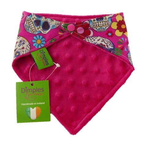 Handmade Bandanas - dimples bandana pink mexican skulls handmade for