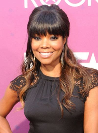 Half Up Wedding Hairstyles With Bangs by Gabrielle Union Wavy Wedding Hairstyles Port