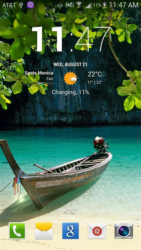 clock themes for samsung e2252 how to get cyanogenmod s clock home lock screen widget