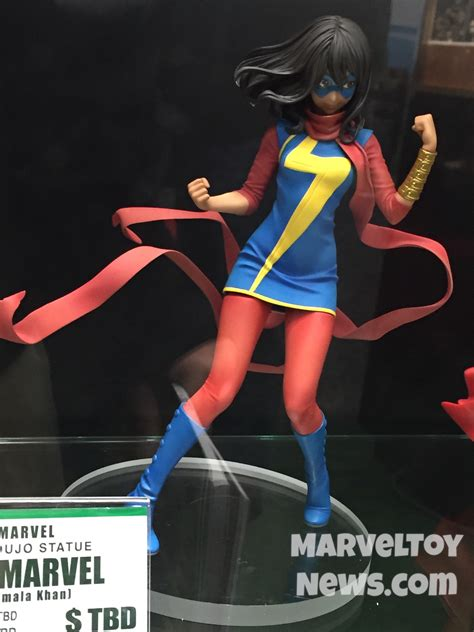 Kotobukiya Mk221 Ms Marvel Kamala Khan fair 2017 kotobukiya ms marvel bishoujo statue photos marvel news