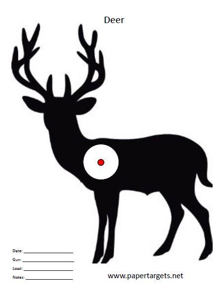 printable paper deer targets deer target pinteres