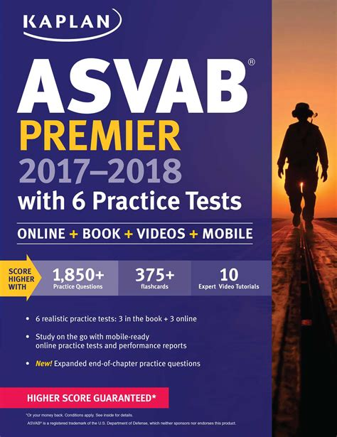 asvab premier 2017 2018 with 6 practice tests book by