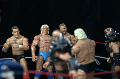 what ifric flair helped dusty rhodes after the cage match ric flair defining moments figure review 4horsemen face