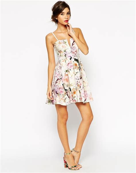 Mini Dres 087 image 3 of asos wedding notch bandeau floral mini dress casual asos minis and