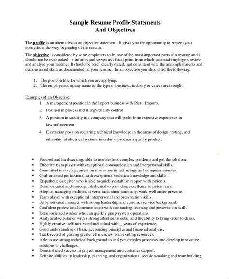 objective for resume management qualifications resume objectives