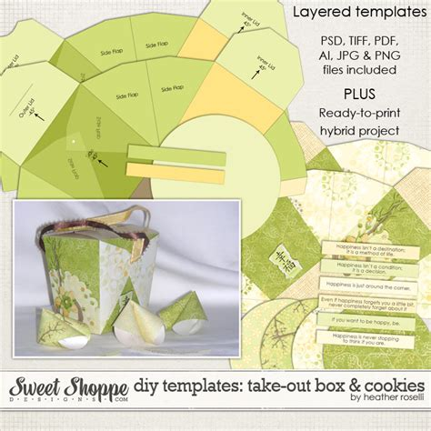takeout box template sweet shoppe designs your memories sweeter