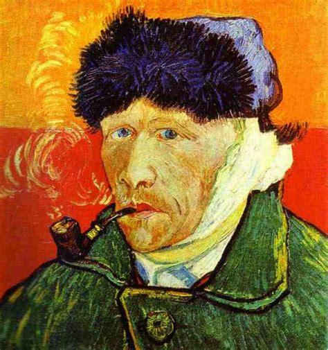 van gogh ear van gogh self portrait with pipe
