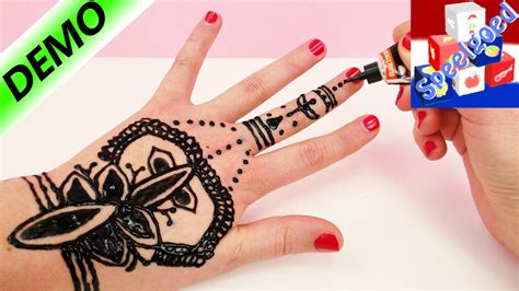 henna tattoo zelf maken henna hand tattoo tutorial