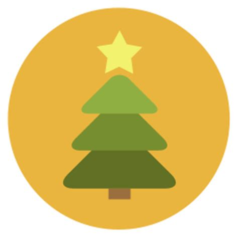 christmas tree icon flat christmas circle iconset fps