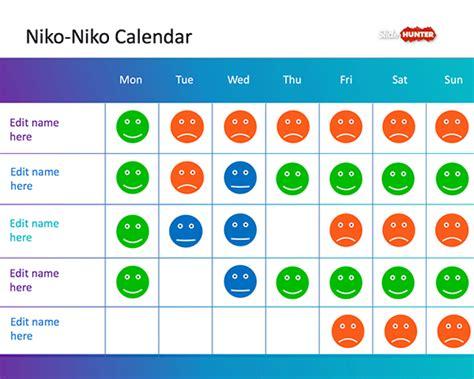 Free Niko Niko Calendar PowerPoint Template   Free
