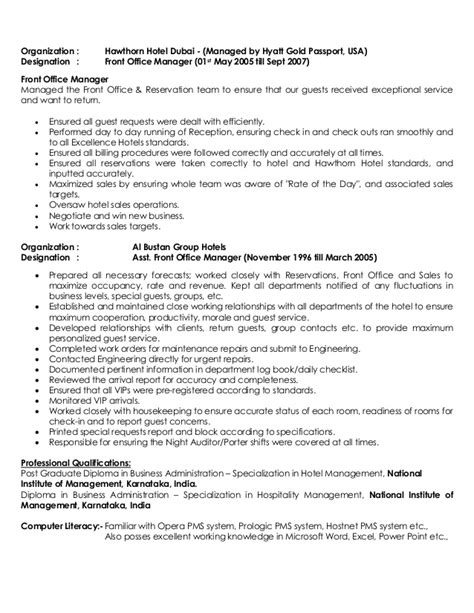 Hotel General Manager Resume by Ashfaq Sheikh Resume General Manager Pdf