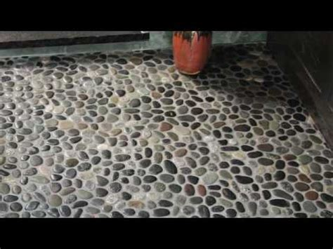 Kitchen With Stone Backsplash pebble tile product knowledge 2010 youtube
