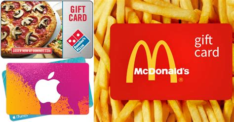 Dominos E Gift Card Amazon - discounted gift cards save on domino s pizza mcdonald s lowe s itunes more