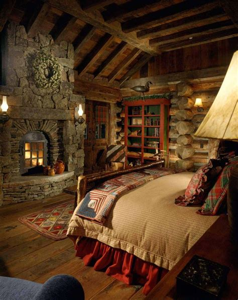 cabin bedrooms 38 rustic country cabins with a stone fireplace for a