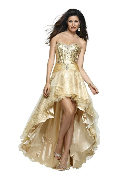 Dress Gold gold high low prom dresses 2018 high low dresses in