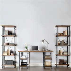 Vintage Industrial Bookcase Twin Shelves And A Desk Vintage Industrial Bookcase Designs