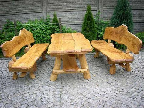 rustikal handgemacht sitzgruppe vollholz holz