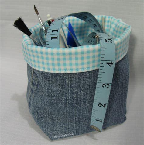 Tas Two Cooler Bag Medium Cover threading my way denim fabric baskets tutorial