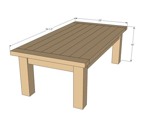 Outdoor Patio Table Plans Diy Tryde Coffee Table So This Because I Can T Find One I Like In Stores That S In My