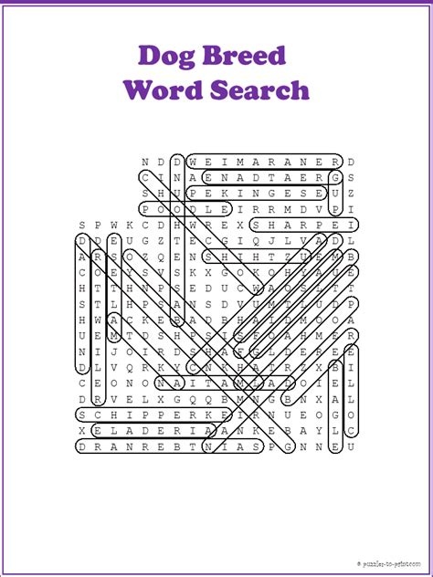dog word search dog word search