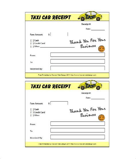 Taxi Receipt Template by 20 Taxi Receipt Templates Pdf Doc Free Premium