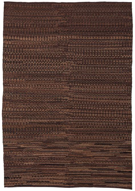 Rug For Brown Leather braided brown leather large rug from r401001