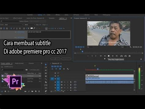 membuat opening video adobe premiere cara membuat subtitle di adobe premiere pro cc 2017 youtube