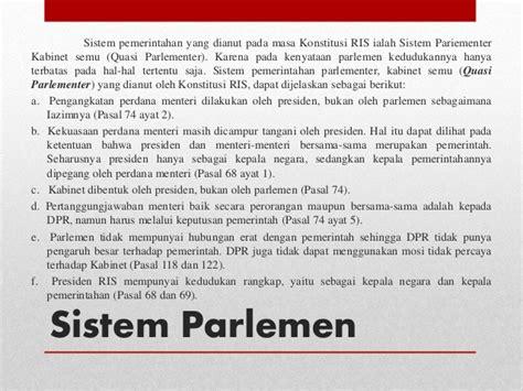 sistem pemerintahan indonesia sistem pemerintahan di indonesia