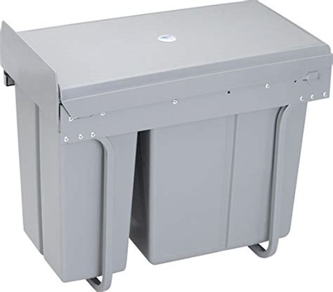 under cabinet pull out trash can with lid under kitchen cabinet double pull out trash can with lid